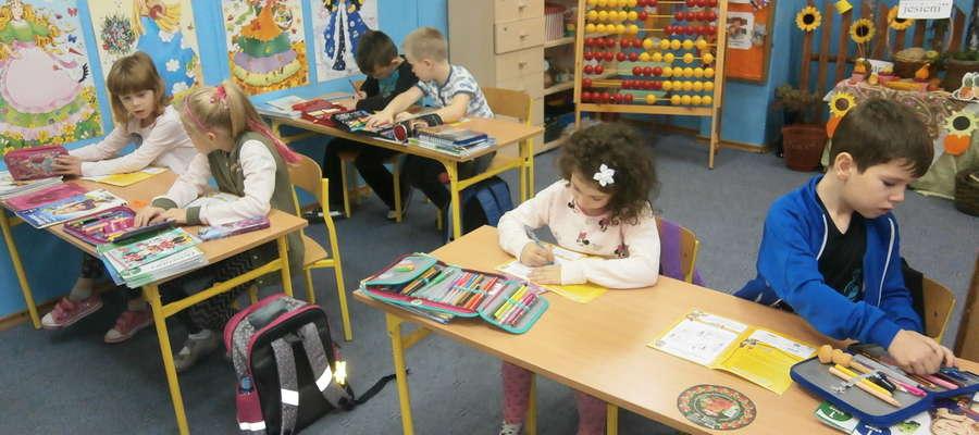 Podczas zajęć w szkole w Zwiniarzu