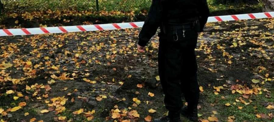 Niewybuch znaleziono podczas prac ziemnych przy szkole podstawowej w Kisielicach