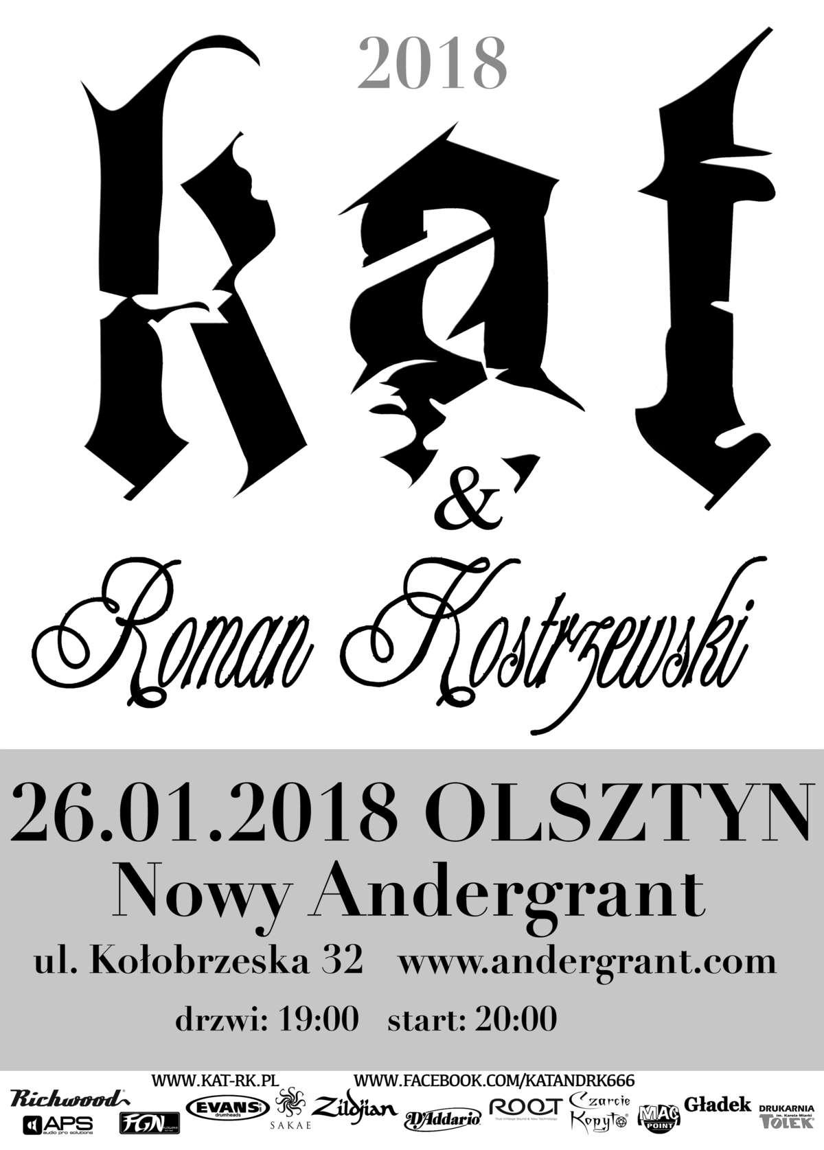 Roman Kostrzewski i KAT zagrają w Olsztynie - full image
