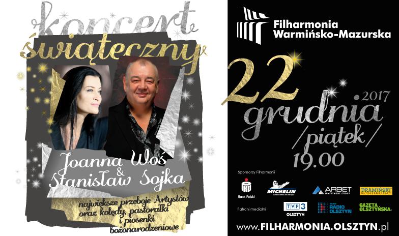 Koncert Świąteczny - Joanna Woś i Stanisław Soyka w Filharmonii Warmińsko-Mazurskiej