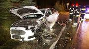 Czołowe zderzenie na ul. Jagiellońskiej w Olsztynie. Kierowca trafił do szpitala [ZDJĘCIA i WIDEO]