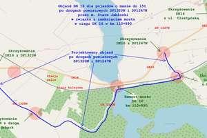 Uwaga! Od 13 grudnia zmiana organizacji ruchu na trasie Ostróda-Olsztyn! Wyznaczono objazdy [SCHEMAT]