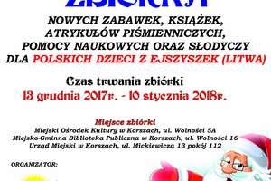 Świąteczna zbiórka dla dzieci z Ejszyszek