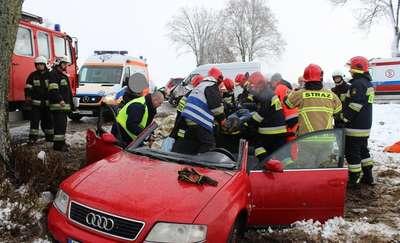 Zderzenie w Wyszkowie. Dwie osoby ranne