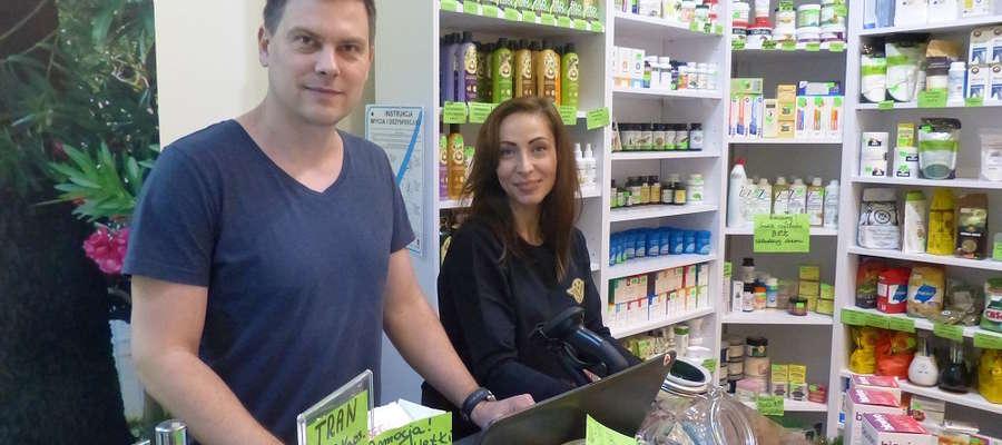 Agnieszka i Marcin, właściciele Zielarni Warmińskiej w Iławie