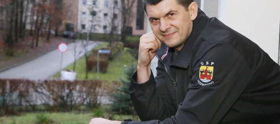 Krzysztof Ważny  Olsztyn-Krzysztof Ważny strażak z Redykajn, reanimował człowieka w supermarkecie w Szczytnie