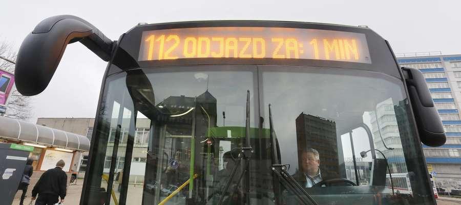 MPK 112  Olsztyn-autobus linii 112 kursujący do Dywit i Słupy czyli za miasto