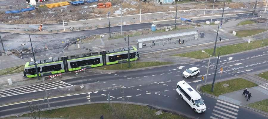 Pętla tramwajowa  Olsztyn-pętla przesiadkowa koło dworca PKP