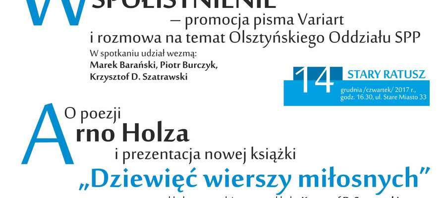 Promocja VariArt i wykład o poezji Arno Holza