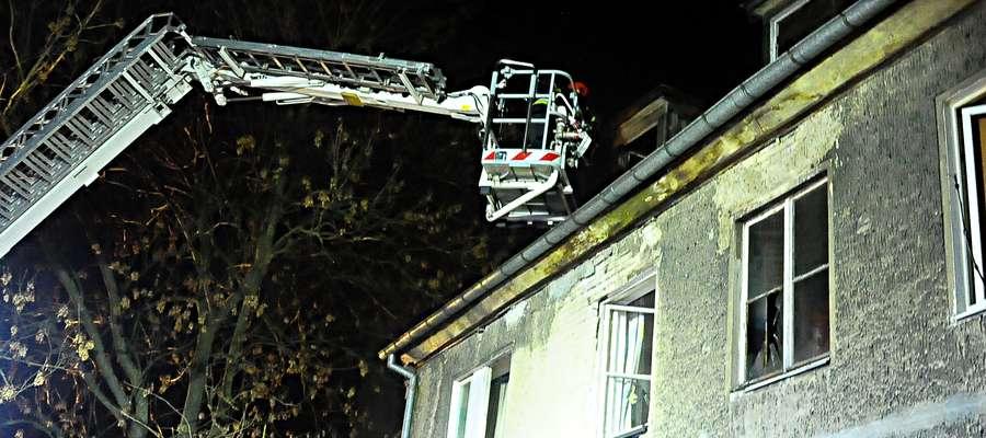 Pożar w mieszkaniu na ul Kasprzaka
