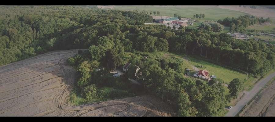 Aktualne zdjęcie Ogrodzieńca z lotu ptaka