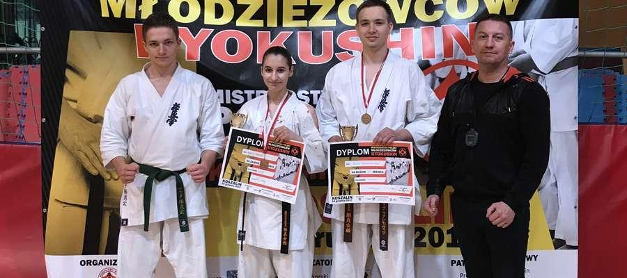 Dwa medale oleckich karateków na mistrzostwach Polski w Koszalinie