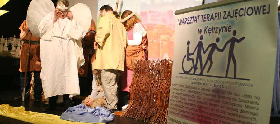 Uczestnicy WTZ Kętrzyn tradycyjnie przygotowali widowisko teatralne