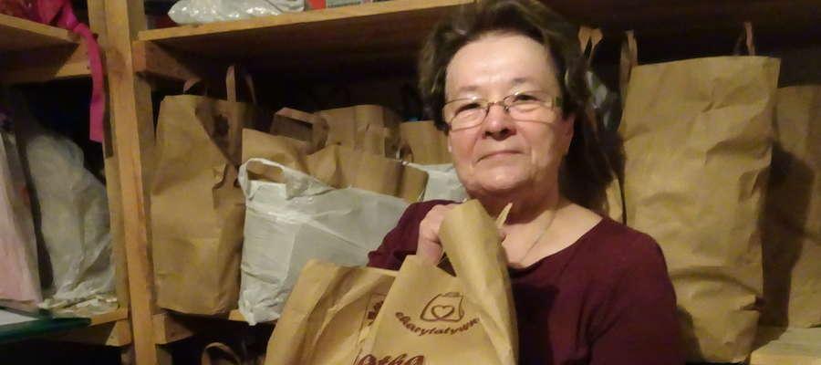 Łucja Naguschewska, wolontariuszka  parafialnego Caritas