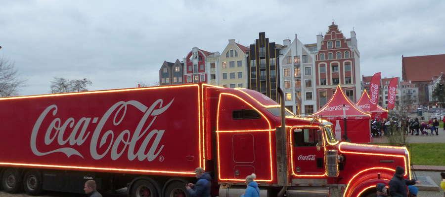 Ciężarówka Coca Coli w Elblągu