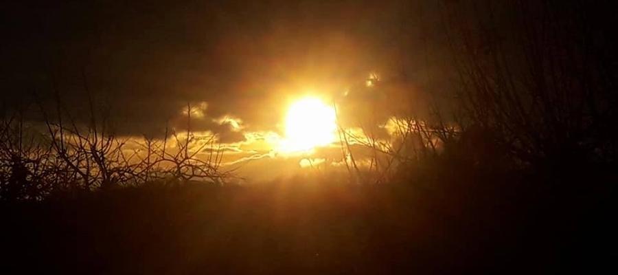 Zachód słońca w Kokoszewie koło Bisztynka