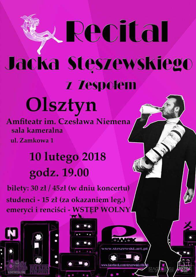 Recital Jacka Stęszewskiego z zespołem - full image