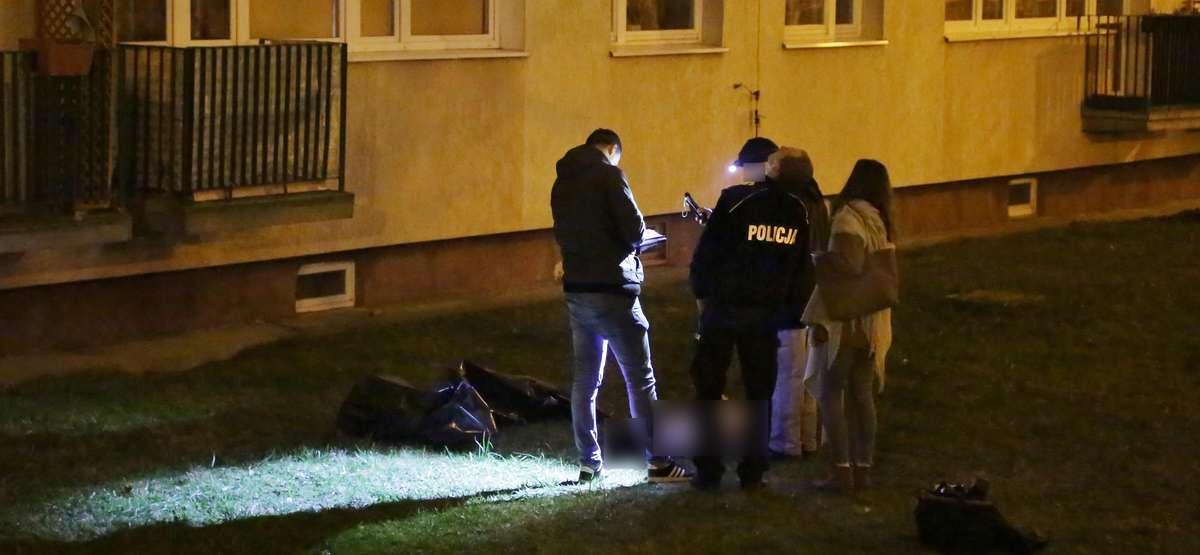 Osińskiego samobójca  Olsztyn-samobójstwo ulica Osińskiego 24 latek wyskoczył z 10 piętra wieżowca