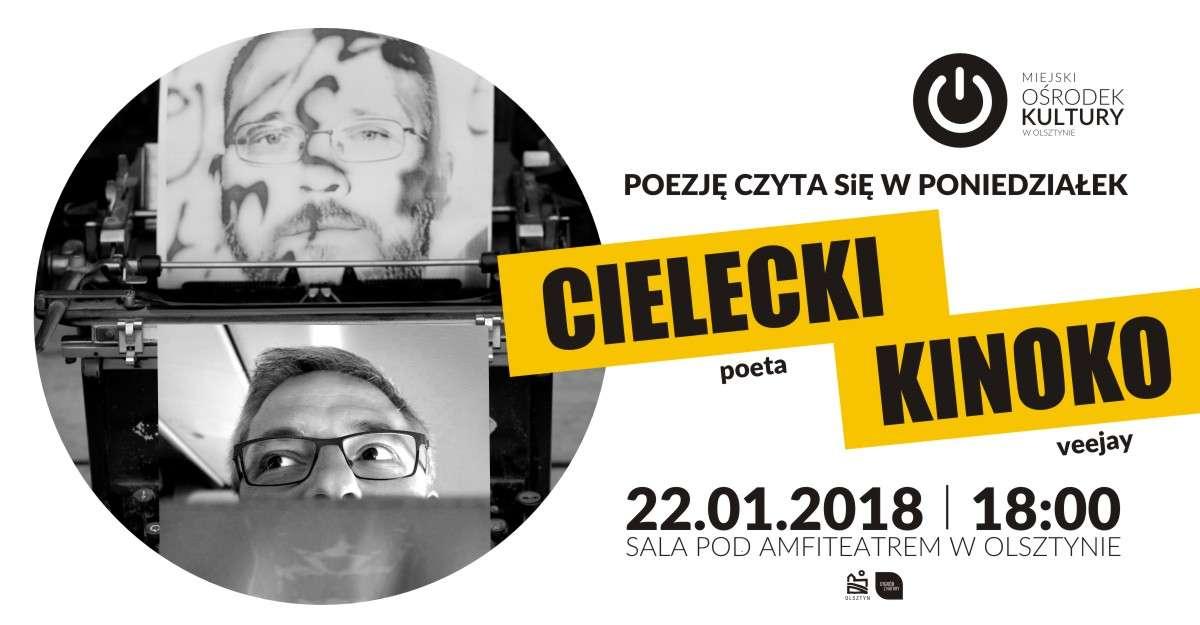 Poezję czyta się w poniedziałek. Marcin Cielecki i Tonda Kinoko - full image