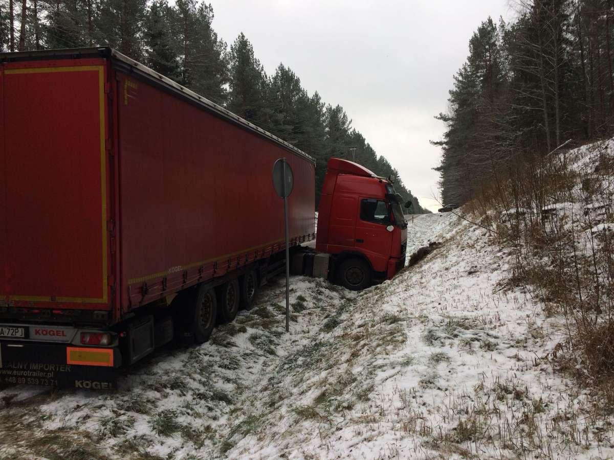Wypadek na trasie Mingajny - Krosno
