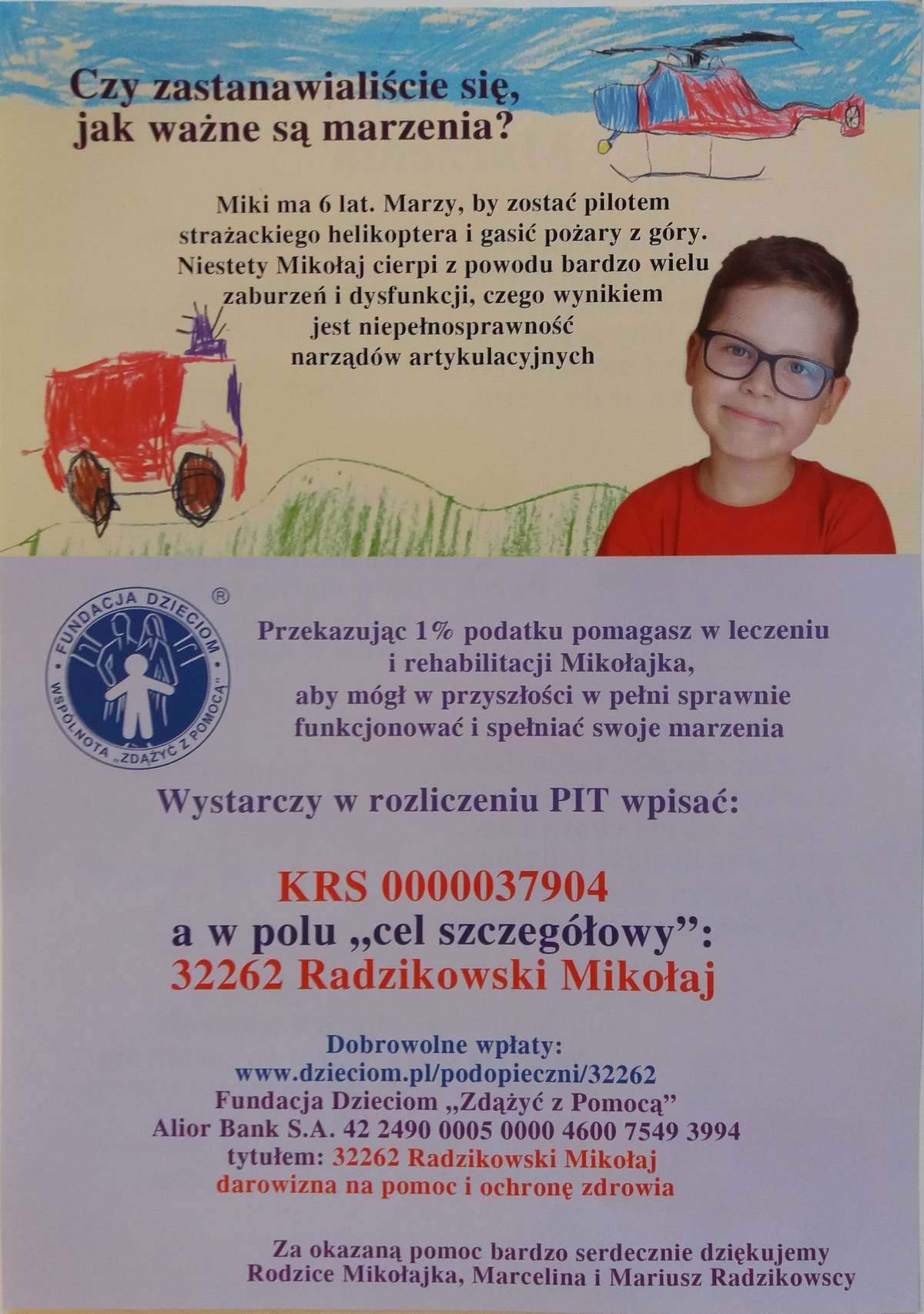 Mikołajek - ulotka