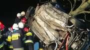 Audi uderzyło w drzewo. Na miejscu zginął 28-letni kierowca i 18-letni pasażer