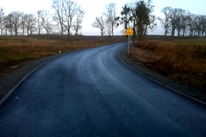 Nowa droga w Gumniskach Wielkich