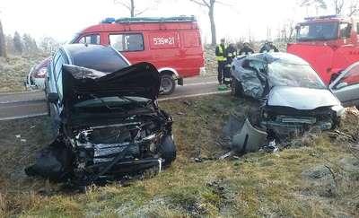 Śmiertelny wypadek koło Rychnowa na drodze nr 542