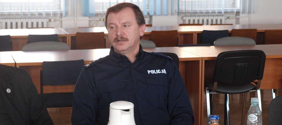 Komendant Komendy Powiatowej Policji w Żurominie insp. Witold Lemański