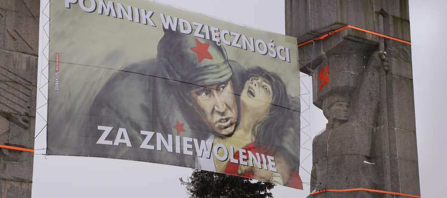 Pomnik Dunikowskiego transparent