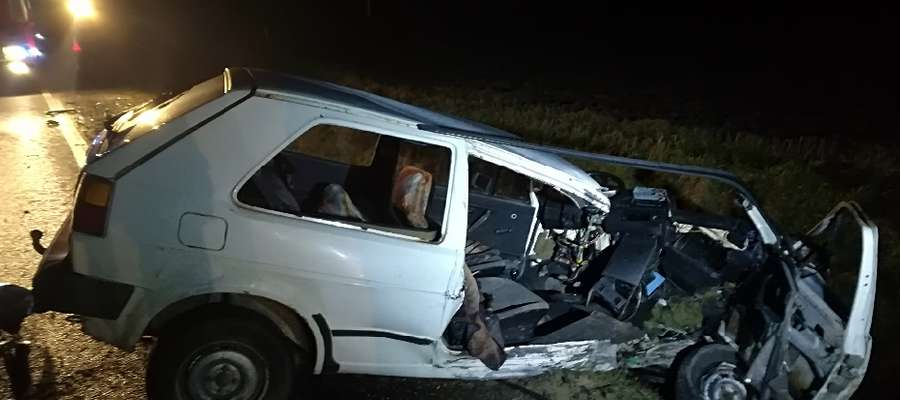 Wypadek w okolicach Kisielic