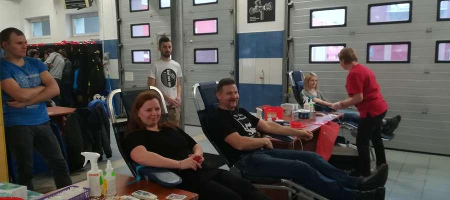 Podczas sobotniego poboru krwi w straży w Nowym Mieście Lubawskim