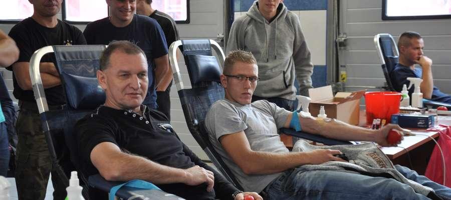W czasie jednego z poborów krwi w straży w Nowym Mieście