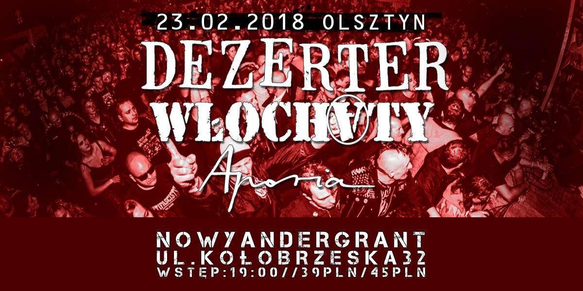 Punkowo i hardcore'owo w Andergrancie. Na scenie Dezerter, Włochaty i Aporia - full image