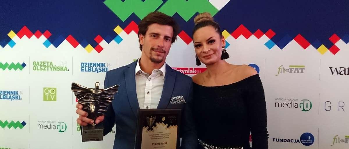Robert Karaś wraz z żoną na Balu Sportu i Biznesu
