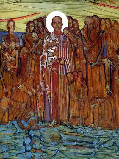 Przed wejściem do muzeum na Majdanku stanie pomnik ukraińskiego księdza - full image