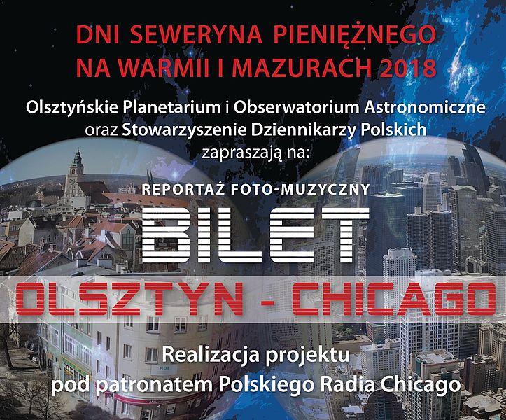 Pokaz muzyczno-wizualny Bilet Olsztyn-Chicago