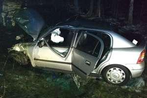 Wypadek na trasie Jedwabno - Olsztynek. 2 osoby dorosłe i małe dziecko w szpitalu