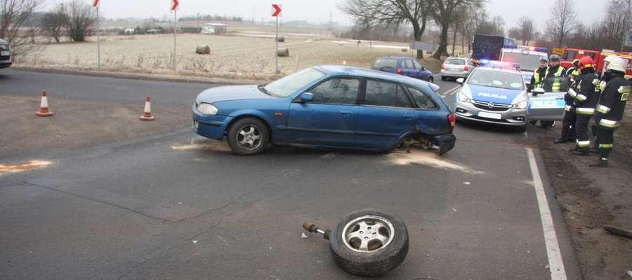 Wypadek drogowy na trasie Mława – Szydłowo, jedna osoba ranna