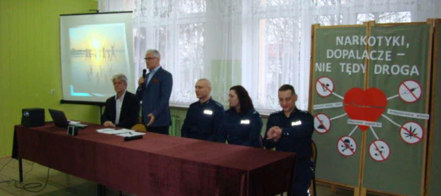 Spotkanie otworzył dyrektor Roman Lewandowski
