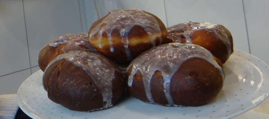 Tradycyjne pączki z terenu nowomiejskiego, akurat te prezentowane są z Nielbarka