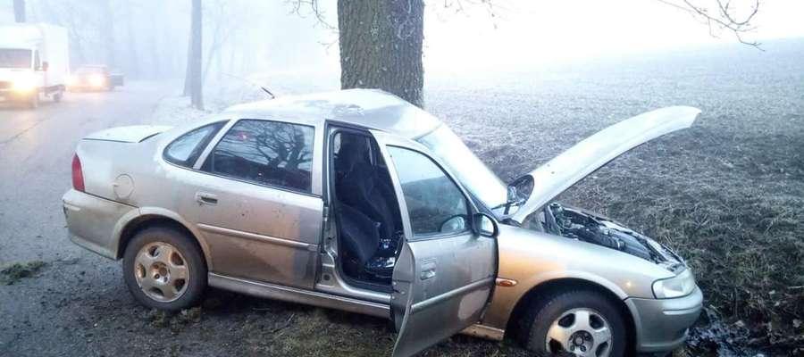 Samochodem podróżowała kobieta, która trafiła do szpitala