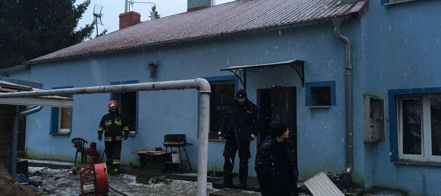 Pożar przy ul. Wyszyńskiego w Lidzbarku Warmińskim