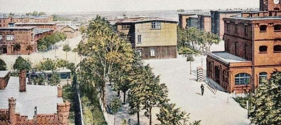 Widok na koszary — tak niegdyś wyglądał południowy kraniec ulicy Grunwaldzkiej