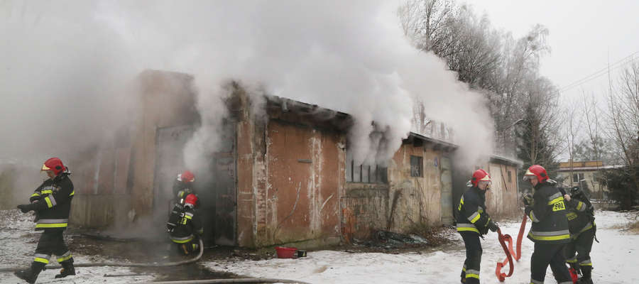 Kolejny pożar przy al. Wojska Polskiego w Olsztynie [WIDEO, GALERIA]