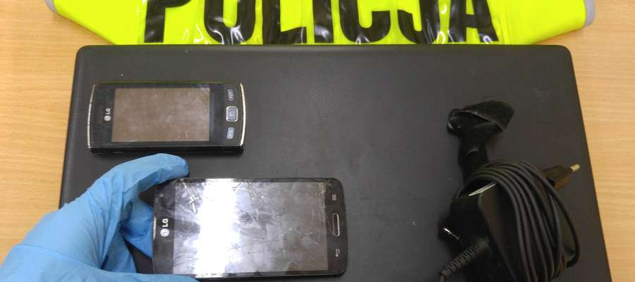 Sprzęt elektroniczny zabezpieczony przez policjantów KPP Ostróda