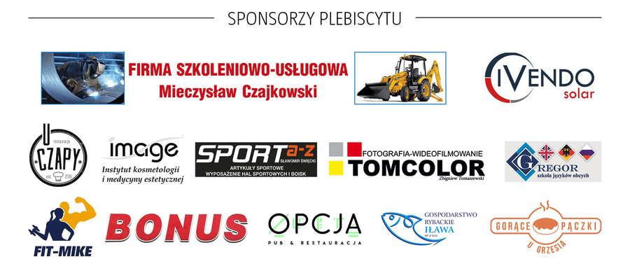 Oto sponsorzy naszego plebiscytu