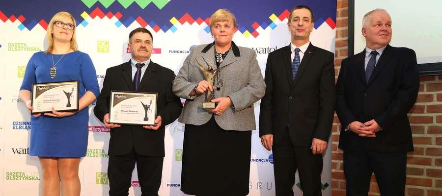 Fot. — W ubiegłym roku Anna Czeryba zdobyła Złotego, Ryszard Mulański Srebrnego, a Sylwia Ciszewska Brązowego Super Sołtysa Powiatu Lidzbarskiego