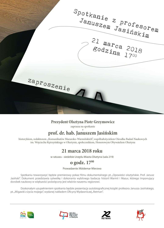 Spotkanie z profesorem Januszem Jasińskim - full image