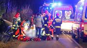 Tragedia na drodze Dywity-Różnowo. Nie żyje mężczyzna [VIDEO,ZDJĘCIA]